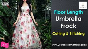 umbrella pattern salwar floor length umbrella cut frock cutting and stitching full