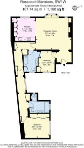 Buckingham Palace Floor Plan 2 Bedroom Flat For Sale In Rosscourt Mansions Buckingham Palace
