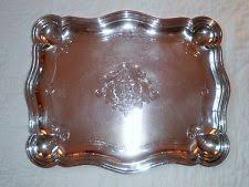 monogrammed platters and trays christofle 1900 1940 antique us silverplate platters trays ebay