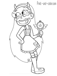 star vs the forces of evil coloring pages print and color com