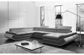 canapé d angle imitation cuir canapé d angle convertible genova en simili cuir de qualité gris