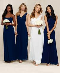 bridesmaids wedding dresses ralph wedding mix and match navy blue bridesmaid