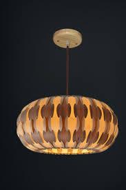 Wood Veneer Pendant Light Drum L Made Of Wood Veneer