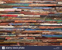 repurposed wood horizontal windows frames reused as wall