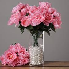 silk flowers wholesale 16 silk peony bushes wedding party artificial flowers centerpieces