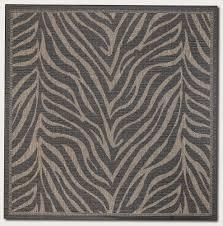 6 Square Area Rug 8 6 Square Area Rug Zebra Pattern In Black And Cocoa 8 6 Square