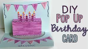diy pop up birthday card youtube