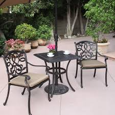Wrought Iron Bistro Chairs Best Choice Of Patio Glamorous Bistro Set With Umbrella Wrought