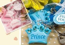 baby shower keychain favors baby shower favor party gift for guests pink or blue crown themed