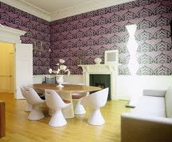 Contemporary Wallpaper For Bathrooms - dining room design and decorating with modern wallpaper