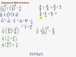 Order Of Operations Worksheet Answers Operations With Fractions