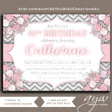 80th Birthday Invitation Cards 80th Birthday Invitation Flowers Women Flowers Invitation