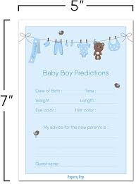 amazon com 30 baby shower prediction and advice cards for the