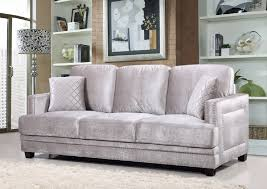 Grey Velvet Sofa by Furniture Ville Bronx Ny Ferrara Grey Velvet Sofa