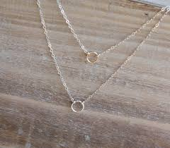 double layered necklace images Tiny eternity circles layered necklace simply sweet studio jpg