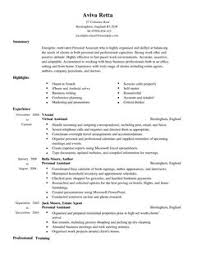 Sample Resume Personal Assistant by Resume Sample Executive Assistant Resume Examples Expereince