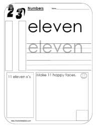 numbers 11 to 20 worksheets