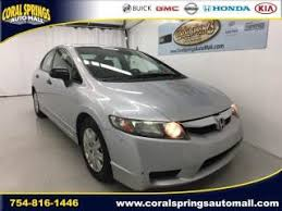 2010 honda civic for sale used 2010 honda civic sdn dx vp for sale serving fort lauderdale
