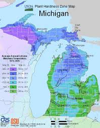 area code map of michigan michigan growing zone map for plant hardiness