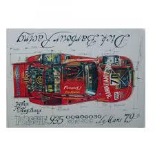 porsche 935 paul newman of a porsche 935 barbour racing print by sebastien sauvadet