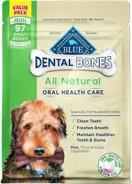 blue buffalo dental bones all natural mini dog treats 27 oz bag