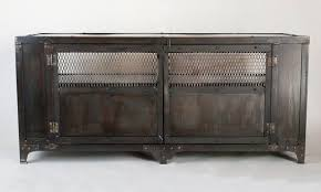 Accent Console Table Hand Crafted Industrial Media Cabinet Tv Stand Entertainment