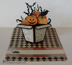 sandy diller using the pop it ups flower pot pop stand halloween