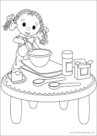looby loo baking cake color andy pandy coloring pages