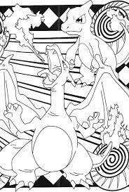 charizard charmelion coloring pages pokemon party