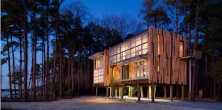 house architectural loblolly house prefabricated architecture integrated with nature