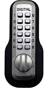shabbat lock all weather mechanical keyless deadbolt door lock satin chrome