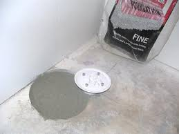 concrete around shower drain rough in for the home pinterest