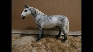 schleich dapple grey custom for sale on the hanoverian stallion