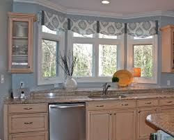 interior beige kitchen curtains window valance ideas
