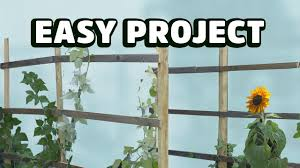 how to build a cheap and easy garden trellis youtube