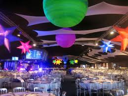 space themed party decor