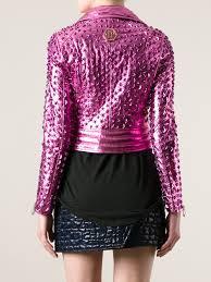 pink motorcycle jacket philipp plein studded biker jacket in purple lyst