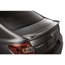 honda civic sedan lip spoiler painted in the factory paint code of
