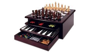 Board Game Storage Cabinet 68 Off On 15 In 1 Wooden Board Game Set Groupon Goods