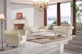 Classic Livingroom 287 Leather Classic 3 Pcs Sets Living Room Furniture