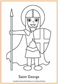 Saint George Colouring Page Saints Colouring Pages