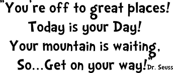 dr seuss quote you re to great places vinyl wall