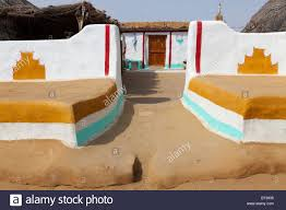 Paint House Traditionally Painted House Made With Mud In A Village Of Khuri