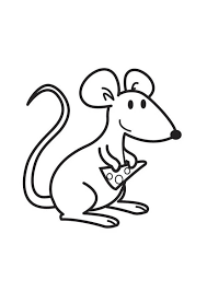 Coloriage Souris avec fromage  img 17761