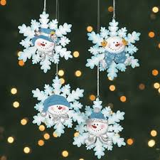 ornaments resin and glitter snowman snowflake ornaments