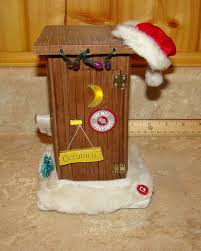 Outhouse Bathroom Accessories by Animated Santa Outhouse Toilet Figurine Sings Lights Jokes Home