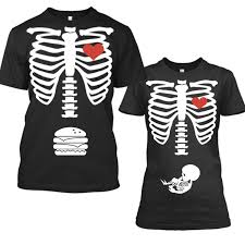 pregnant halloween skeleton costume halloween pregnancy announcement shirt pregnancy announcement