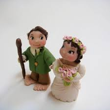 lord of the rings cake topper a hobbit s wedding hobbit cake hobbit and cake