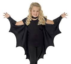 amazon com smiffy u0027s kids unisex vampire bat costume wings black