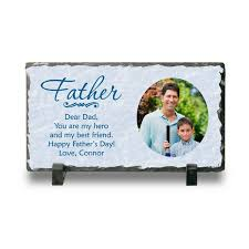 fathers day personalized gifts personalized photo slate plaque for personalized fathers day